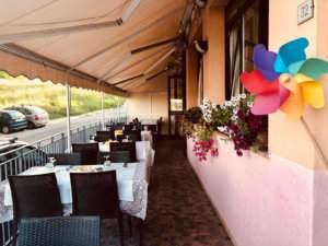 terrazza esterna la collinetta ristorante altavilla vicentina